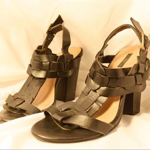 Black Chunky/Sandal Heels
